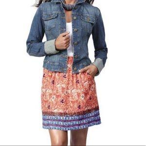 Cabi 784 Bella Batik Boho Style Skirt M